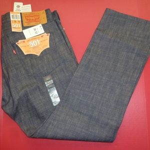NEW Levis 501 Shrink/Fit 36x32 Cone Mills Blue Jea